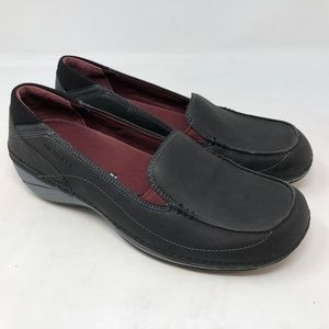 Merrell Black Leather Slip On Loafer womens sz 8